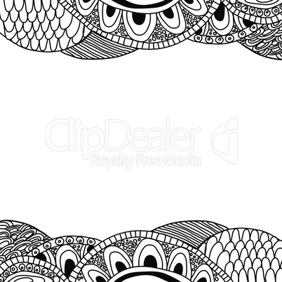 Doodle background (black and white)