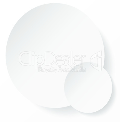 White circle abstract background with shadows for your business presentation.