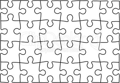 Puzzle template. Background for your business presentation.