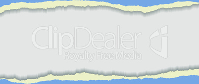 Blue torn paper. Background for your business presentation.