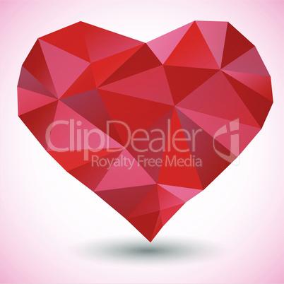Triangle heart icon