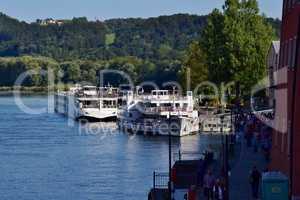 Zusammenfluß von Donau und Inn in Passau