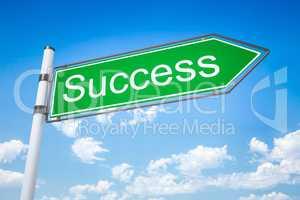 road sign arrow success