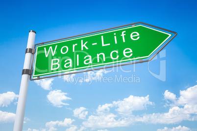 road sign arrow work - life balance