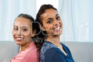 Friends smiling at camera
