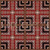 Decorative Geometric Ornate Abstract Pattern