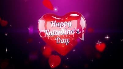 Hearts Background Animation for Valentines Day and Wedding.