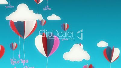 Swinging Hearts Background Animation for Valentines Day and Wedding.