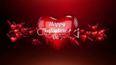Hearts and Angle Wings Background Animation for Valentines Day and Wedding.