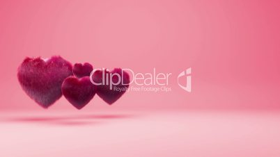 Hairy Hearts Background Animation for Valentines Day and Wedding.