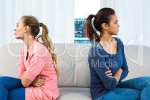 Friends sulking each other