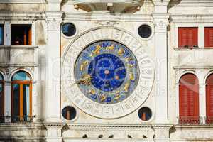 Astrological clock at Torre dell'Orologio in Venice