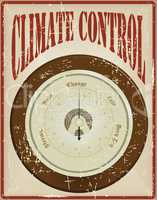 Wall barometer - the basis of climate control