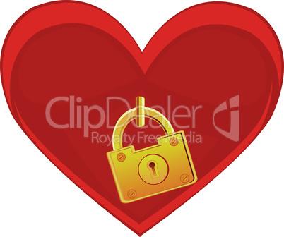 heart on lock.eps