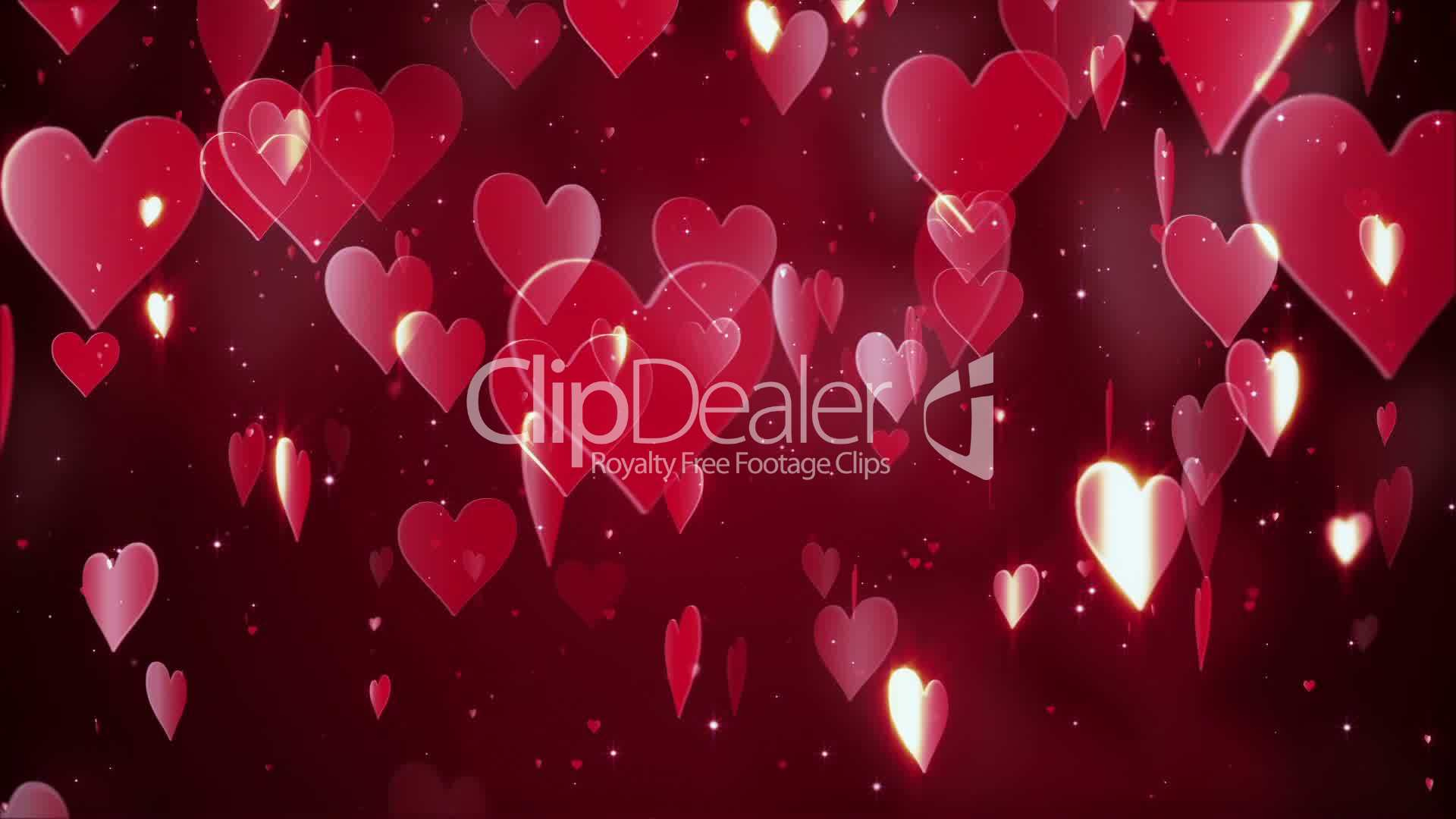 Valentine S Day Hearts Background Royalty Free Video And Stock Footage