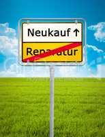 repair - buy new