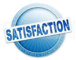 satisfaction button blue