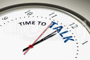 clock with time to talk