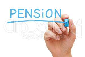 Pension Blue Marker
