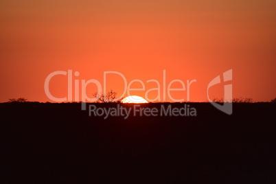Sonnenuntergang in Afrika Namibia