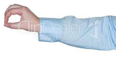 Arm mit einer Gestik