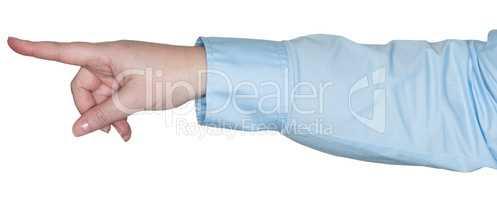 Arm zeigt eine Gestik