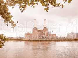 Battersea Powerstation London vintage