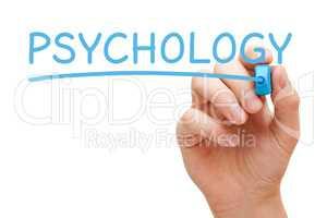 Psychology Hand Blue Marker