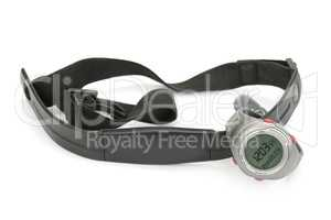 watch and chest strap of heart rate monitor