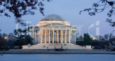Thomas Jefferson Memorial, Dusk, National Mall, Washington D.C.