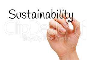 Sustainability Black Marker
