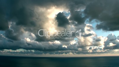 Epic Stormy Timelapse Clouds Over The Sea