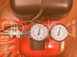 Air compressor manometer vintage