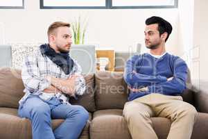 Gay couple having a disagreement