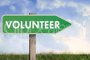 Composite image of word volunteer