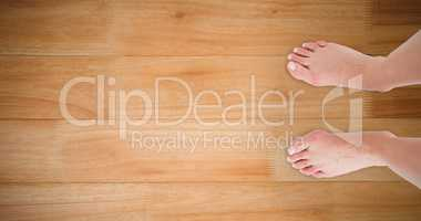 Composite image of feet