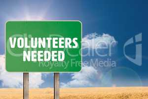 Composite image of volunteers needed