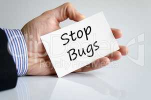 Stop bugs text concept