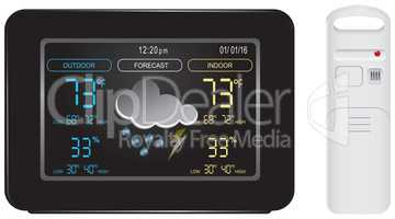 Color display and sensor for weather station