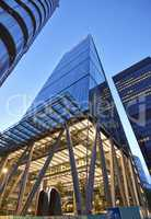 Modern architecture City of London the leading centre of global