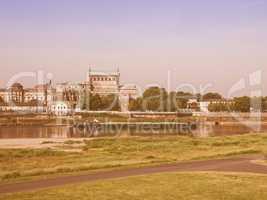 Elbe river in Dresden vintage