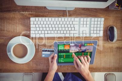 Composite image of gambling app screen