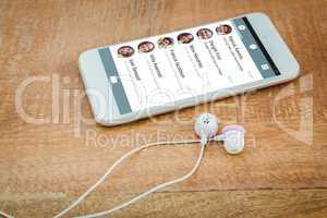 Composite image of smartphone app menu