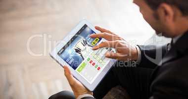 Composite image of sport app