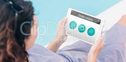 Composite image of order online app