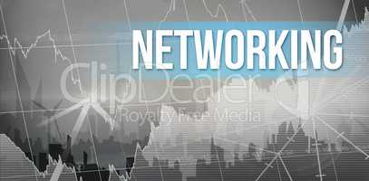 Networking with city background
