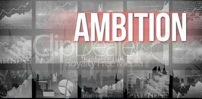 Ambition against cityscape silhouette