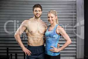 Athletic couple posing