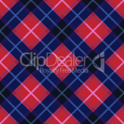 Diagonal seamless pattern in blue and red colors