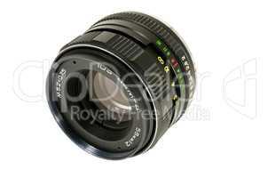 Lens Soviet for the camera on white background